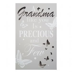 Grandma - Light Up LED Sentimental Wooden Wall Word Art by David Fischhoff